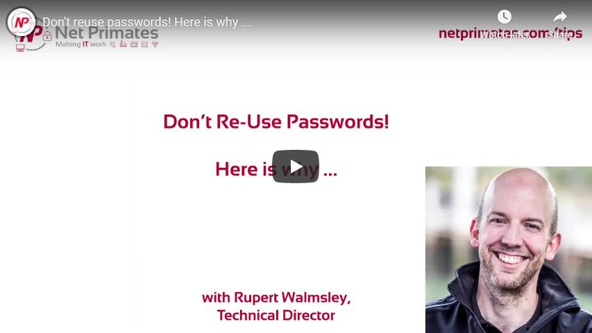 Screenshot of Passwords Training Video
