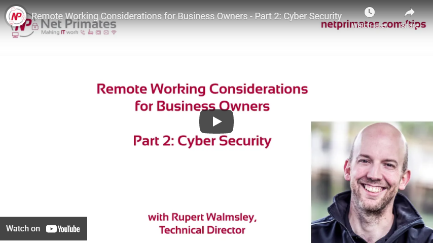 Thumbnail for Cyber Security Tips Video